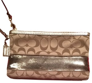 Coach Wristlet in Beige