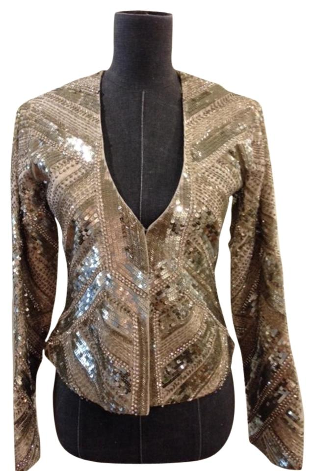 4b3b551a7a Haute Hippie Jacket Size Small Evening Gold   nude Blazer Image 0 ...