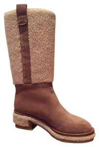 Chanel Fur Suede Boot Nude/ Brown Boots
