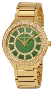 Michael Kors Kerry Green Crystal-set Dial Gold-tone Ladies Watch MK3409