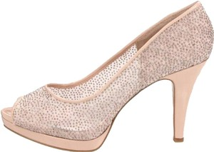 Nine West Peep Toe Sparkle Almond Pumps