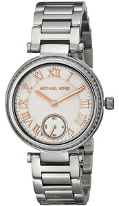 Michael Kors Skylar Silver Dial Stainless Steel Ladies Watch MK5970