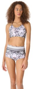 Clover Canyon Eye of the Tiger Bikini String Top High Waist Bottoms XS