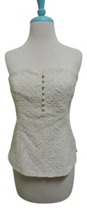 Worth Bustier Date Night Embroidered Top Cream/Natural