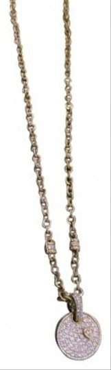 Judith Ripka 18k Gold and Pave Diamond Necklace and Pendant