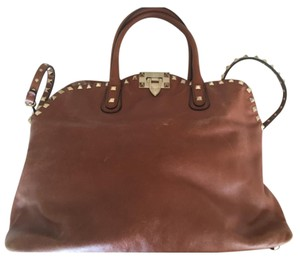 Valentino Satchel in Camel Brown