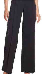Carolina Herrera Size 8 Banded Waist Wide Leg Pants Black