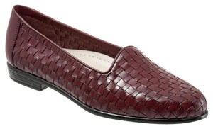 Bass Slip On Woven Calfskin Regina Black Cherry Flats