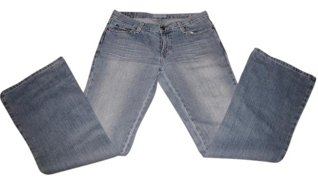 Item - Blue Medium Wash Hipster Fit Boot Cut Jeans Size 28 (4, S)