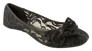 Material Girl Ballet Glow Lace Casual Black Flats