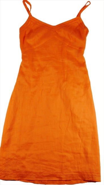 Preload https://item2.tradesy.com/images/ann-taylor-light-orange-sleeveless-linen-msrp-above-knee-short-casual-dress-size-2-xs-1621626-0-0.jpg?width=400&height=650