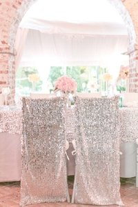 Your Choice 100 Sequin Chiavari Full Chair Back Covers Color Event Party Anniversary Banquet Bling Glam