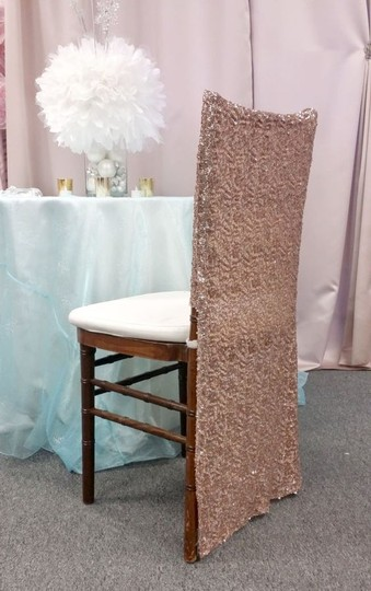 Your Choice 100 Sequin Chiavari Full Chair Back Covers Color Event Party Anniversary Banquet Bling Glam Image 2