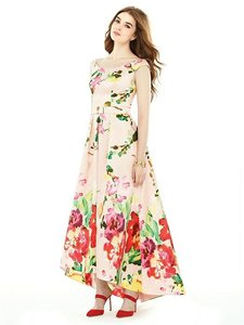 Alfred Sung Blush Bouquet Pink Floral Watercolor D722fp Dress