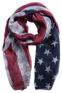 Oblong American Flag Scarf
