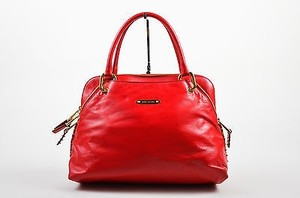 Marc Jacobs Gold Tone Satchel in Red