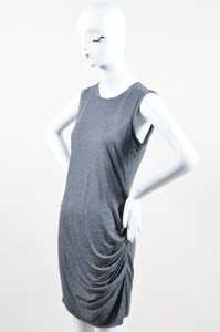 Haute Hippie short dress Gray Black Modal on Tradesy