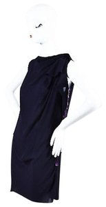 Lanvin short dress Purple Eggplant Boat Neck Sleeveless Ruched Shift on Tradesy