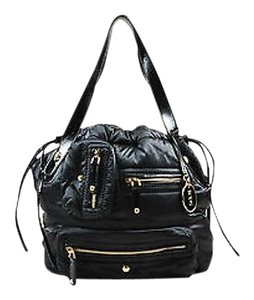 Tod's Tods Nylon Patent Tote in Black