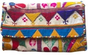 Roberta Roller Rabbit Clutch Multi Color with Beads Clutch