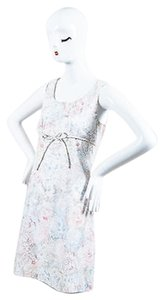 Chanel short dress Multi-Color White Pink Blue Floral on Tradesy