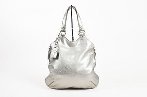 Saint Laurent Yves Pewter Tote in Silver