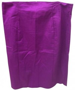 Worthington Plus-size Cotton Sateen Skirt Purple