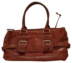 Michael Kors Vintage Leather Satchel in Chestnut