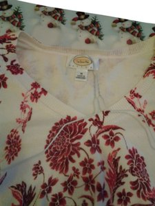 Talbots Silk Embellished Floral Sweater