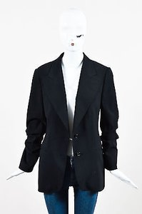 Gucci Gucci Black Wool Single Breasted Structured Blazer