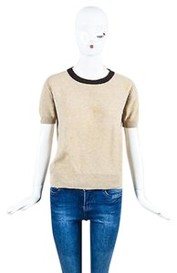 Chanel Tan Short Sleeve Sweater