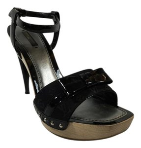 Louis Vuitton Platform Black Sandals