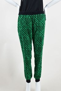 Tibi Black Printed Pants