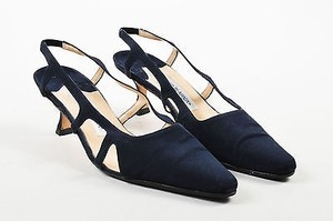 Manolo Blahnik Navy Blue Pumps