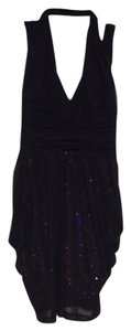 bebe Sequin Mesh Sexy Strappy Dress
