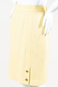 Chanel Vintage Boutique Skirt Yellow