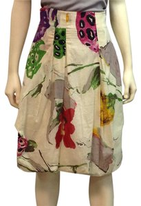 Christian Lacroix Skirt Off white with various bright colors
