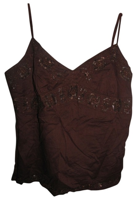 American Eagle Outfitters Beaded Top Brown