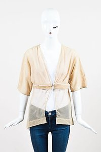 Stella McCartney Sheer Top Beige