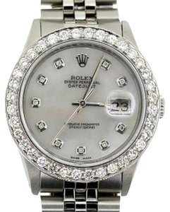 Rolex 36MM MEN'S ROLEX DATEJUST S/S WATCH WITH ROLEX BOX & APPRAISAL