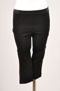 Thakoon Black Stretch Knit Capri/Cropped Pants