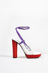 Dolce&Gabbana Dolce Gabbana Red White Multi-Color Sandals