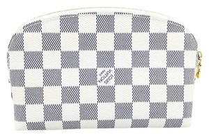 Louis Vuitton Louis Vuitton Ivory & Gray Monogram Small Cosmetics Pouch