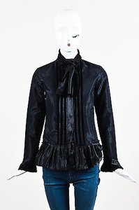 Etro Silk Velvet Trim Top Black
