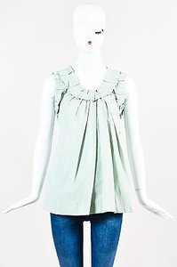 Marc Jacobs Mint Poplin Top Green