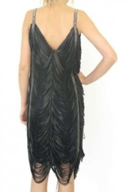Alexander McQueen Leather Fringe Dress
