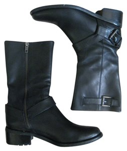 Cole Haan Classic Chic Leather Black Boots