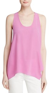 Joie Ardson Sleeveless Silk Top Pink