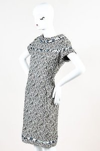 Chanel short dress Multi-Color 09p Black White Textured Woven Embellished Trim on Tradesy