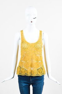 Vera Wang Mustard Top Yellow
